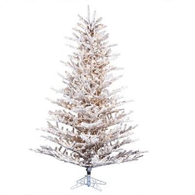 Vickerman Flocked Stick Pine Artificial Christmas Tree