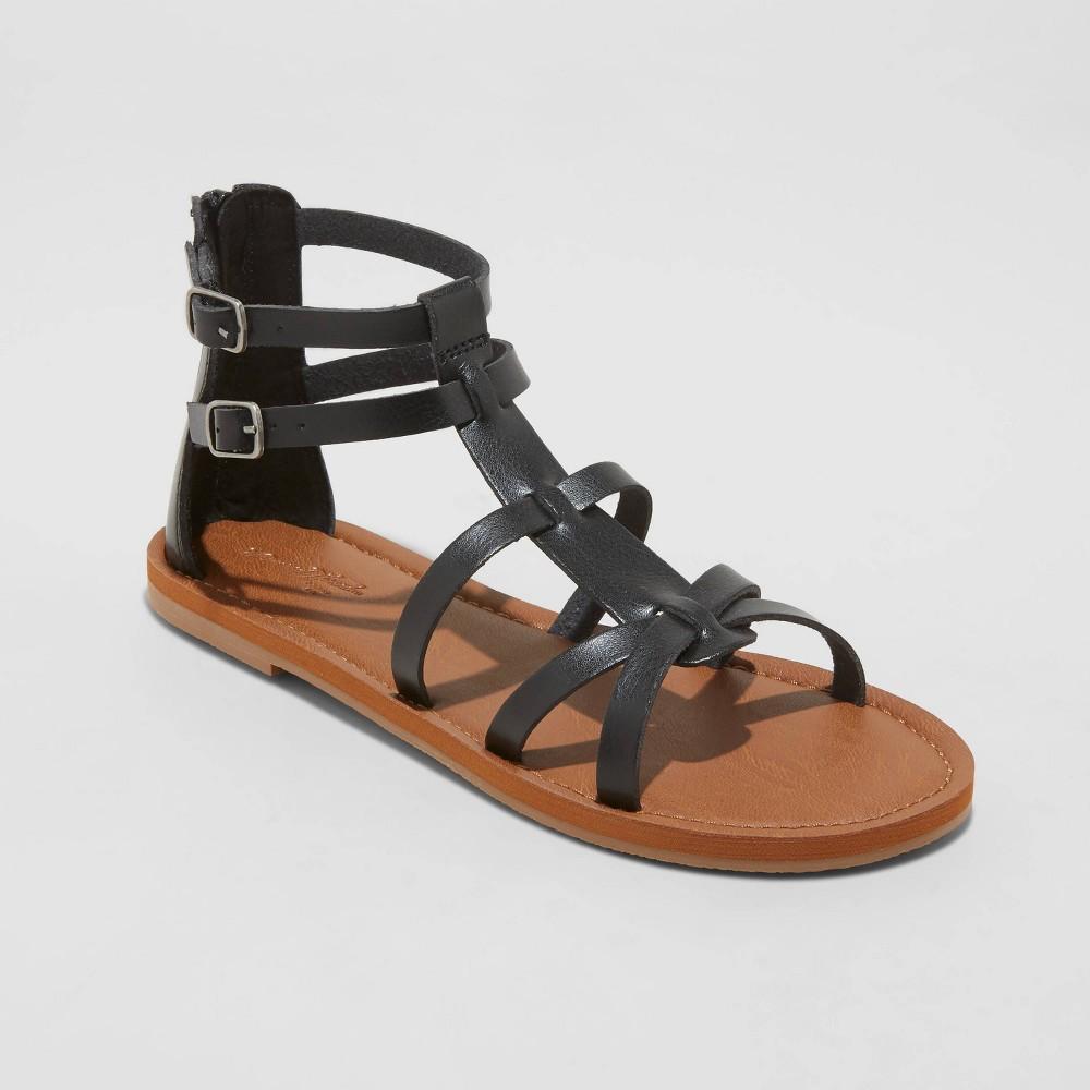 Women 39 S Alva Gladiator Sandals Universal Thread 8482 Black 7 5