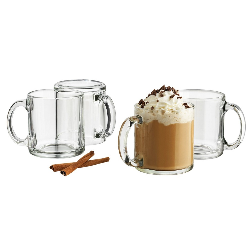 Image of Libbey 13oz Robusta Mug 4pk Set, Clear
