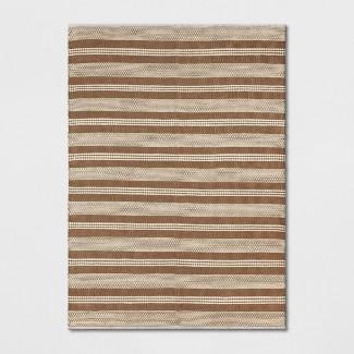 5'X7' Stripe Woven Area Rug Natural - Threshold™