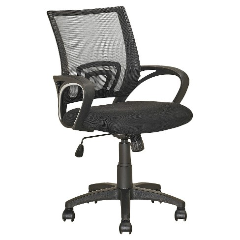 Workspace Mesh Back Office Chair Black - CorLiving - image 1 of 3