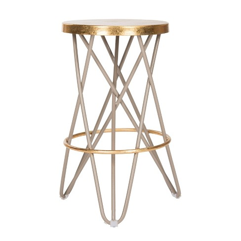Lorna Gold Leaf Counter Stool - Safavieh® - image 1 of 4