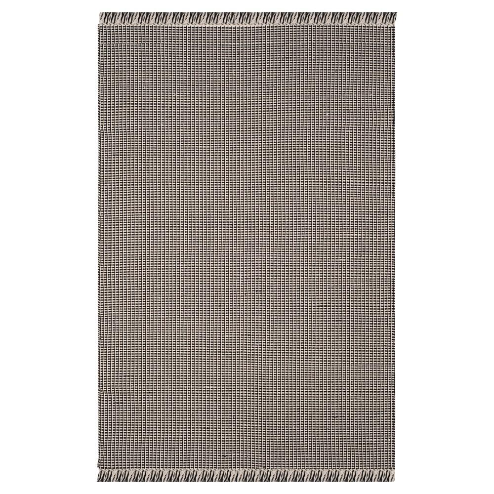 Ivory/Black Stripe Flatweave Woven Area Rug 6'X9' - Safavieh