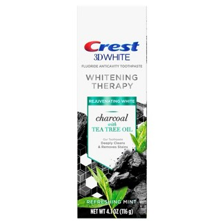 Crest 3D White Whitening Therapy Toothpaste Charcoal With Tea Tree Oil - 4.1oz : Target