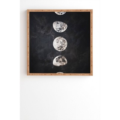 "20"" x 20"" Emanuela Carratoni Mistery Moon Framed Wall Art Black - Deny Designs"