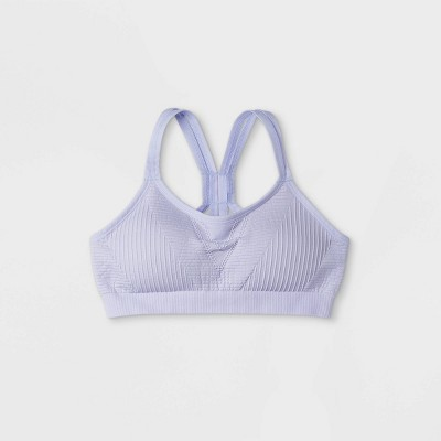 Girls' Seamless Strappy Back Bra - All in Motion™ Purple