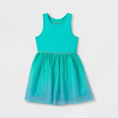 Toddler Girls' Ombre Tulle Tank Dress - Cat & Jack™ Teal/Blue