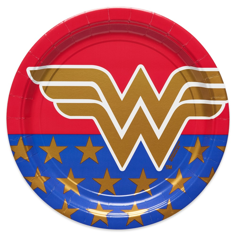 Image of 8ct Wonder Woman Dinner Plates