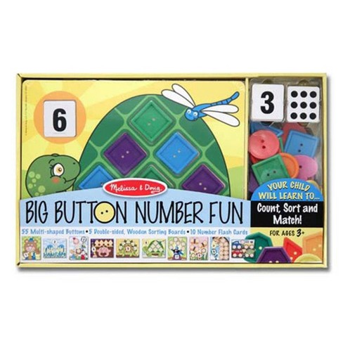 Melissa & Doug Big Button Number Fun Counting and Matching Activity Set Board Game - image 1 of 4