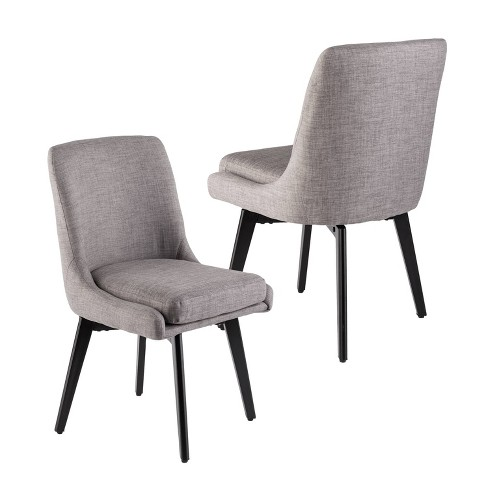 Enjoyable Set Of 2 Siobhan Swivel Accent Chairs Gray Aiden Lane Dailytribune Chair Design For Home Dailytribuneorg
