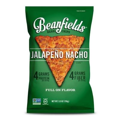 Beanfields Jalapeno Nacho Bean Chips - 5.5oz (Pack of 6)