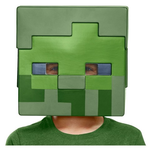 Kid's Minecraft Zombie Costume Mask - image 1 of 1