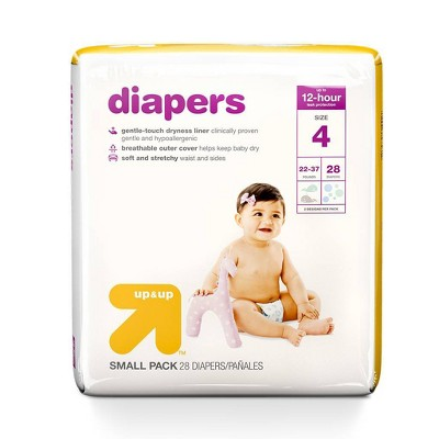 Diapers Small Pack - Size 4 - 28ct - Up&Up™