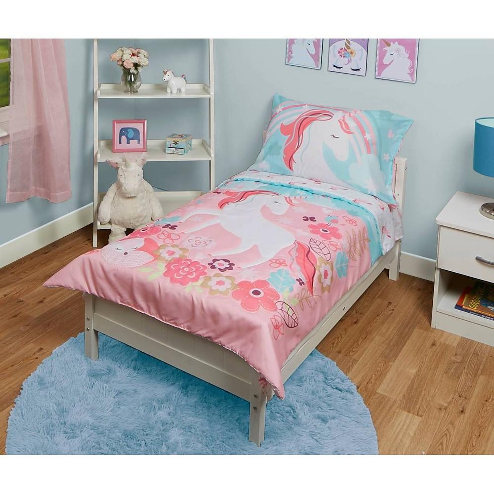Image of Unicorn Toddler Sheet Set Pink