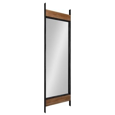 "19.2"" x 63"" Kincaid Full Length Wall Mirror Rustic Brown - Kate & Laurel All Things Decor"