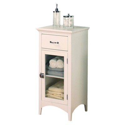 Madison Avenue Floor Cabinet White - Elegant Home Fashions