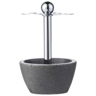 Charcoal Stone Toothbrush Holder Gray