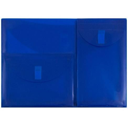 JAM Paper 9 3/4'' x 13'' 12pk Plastic 3 Pocket Envelopes with Hook & Loop Closure, Letter Booklet - image 1 of 4