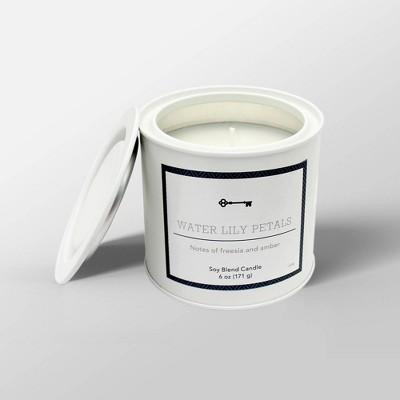 6oz Tin Jar Candle Water Lily Petals - Threshold™