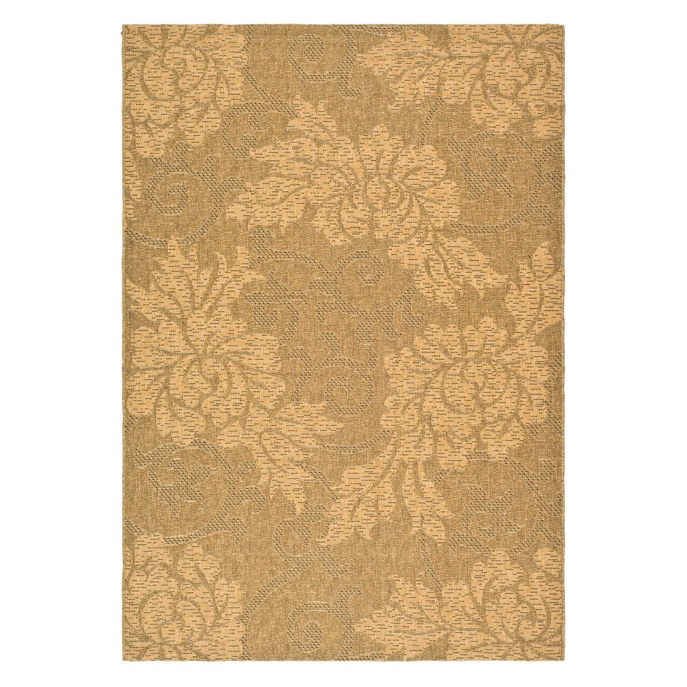 9' x 12' Olivery Outdoor Rug Gold/Natural - Safavieh