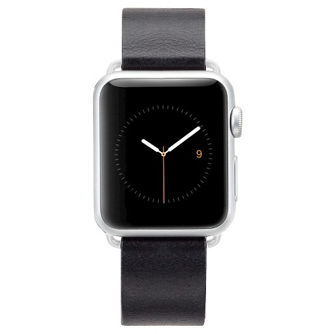 Case-Mate 42mm Signature Leather Watch Band - Black - image 1 of 3