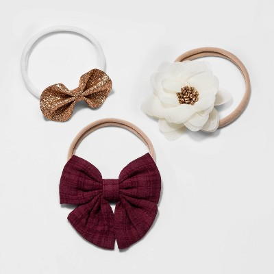 Toddler Girls' 3pk Holiday Bow and Flower Headband - Cat & Jack™