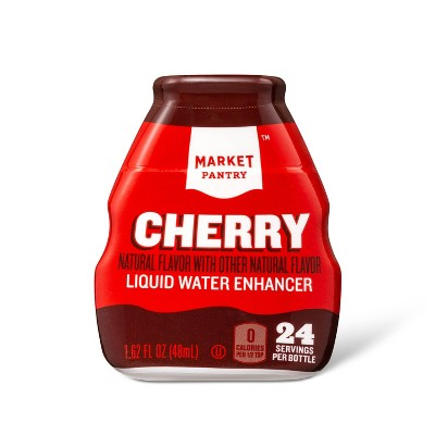 Liquid Water Enhancer Cherry - 1.62 fl oz Bottle - Market Pantry™