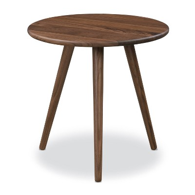 Vane Side Table Walnut - Poly & Bark