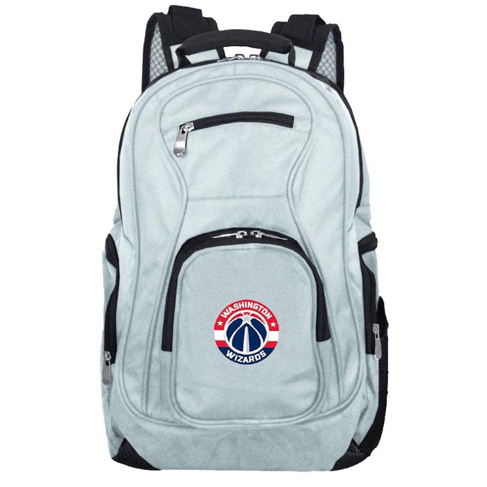 NBA Washington Wizards Gray Laptop Backpack, Size: Small