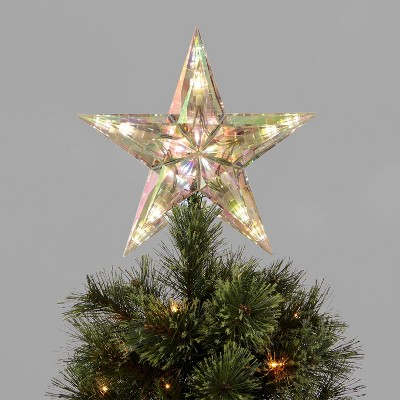 11.5in LED Lit Iridescent Acrylic Star Tree Topper - Wondershop™