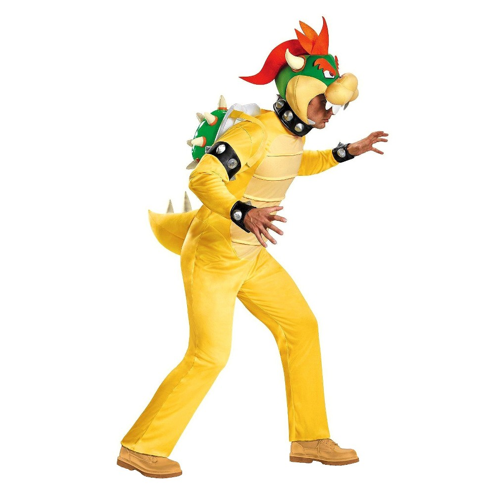 Super Mario Men's King Koopa Costume X-Large, Size: XL, Yellow