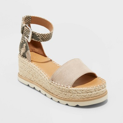 Women's Jean Espadrille Wedges - Universal Thread™