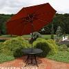 Aluminum Market Tilt Solar Patio Umbrella 9' Fade-Resistant - Rust Orange - Sunnydaze Decor - image 2 of 4