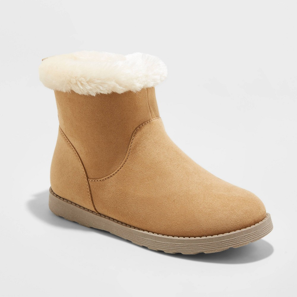 Girls 39 Georgeina Faux Suede Shearling Style Boots Cat 38 Jack 8482 Tan 2