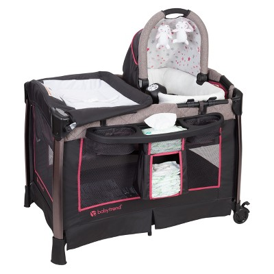 Baby Trend Go Lite ELX Nursery Center Playard - Stardust Rose