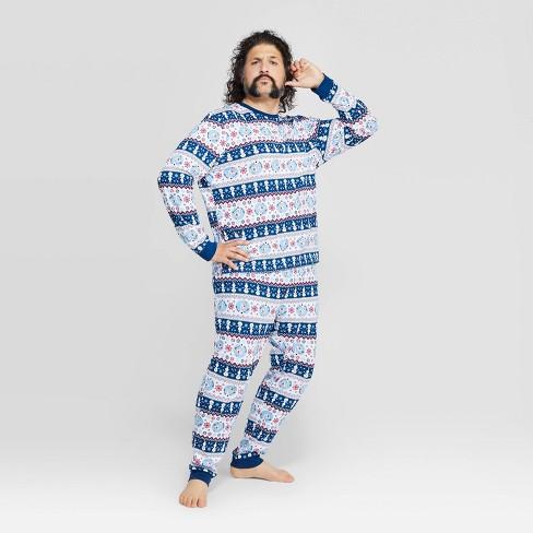 Men's Frozen Holiday Olaf Fairisle Pajama Set - White - image 1 of 3