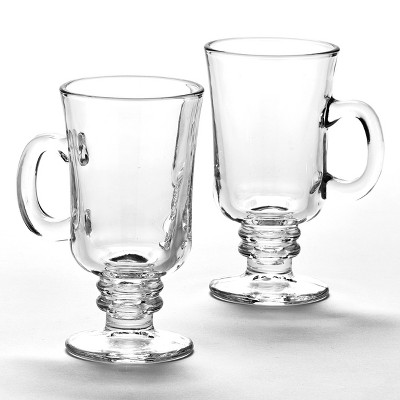 Lakeside Set of 2 Glass Hot Cider Mugs for the Holidays and Special Occasions