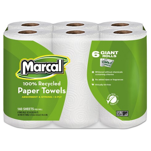 Marcal 100% Recycled Paper Towels - 6 Giant Rolls - image 1 of 1