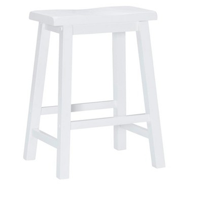 Powell Color Story Schoolhouse-Style Counter Stool Pure White
