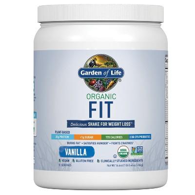 Garden of Life Organic Fit Protein Powder - Vanilla - 16.4oz