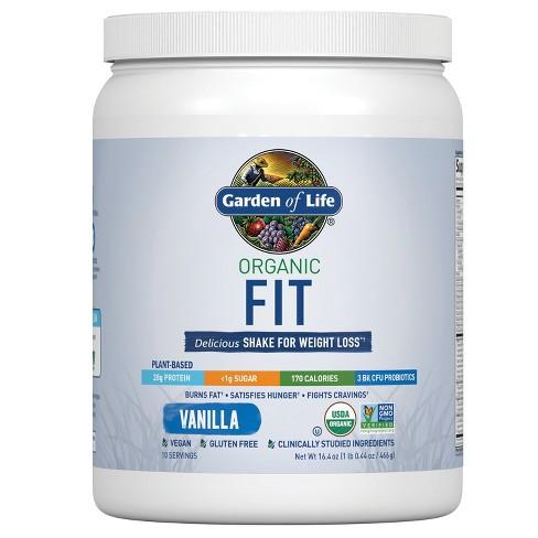 Garden Of Life Organic Vegan Fit Protein Powder Vanilla 16 4oz