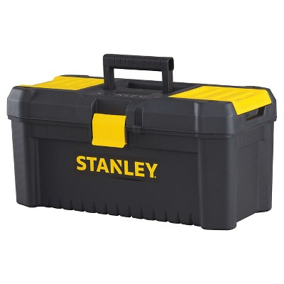 "STANLEY Essential 16"" Tool Box with Plastic Latch Black with Yellow - STST16331"