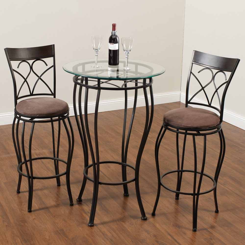 Image of 3pc Pub Set - Brown - Home Source Industries