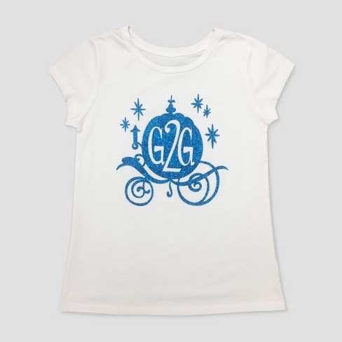 Girls' Disney Wreck-It Ralph Cinderella Comfy Squad Short Sleeve T-Shirt - White - image 1 of 1
