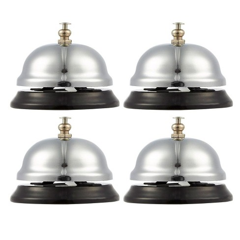 Call Bell 4 Pack Customer Service Bell Office Desk Bell Ringing Bell For Home Store Or Hotel Small Silver 2 5 X 2 X 2 5 Inches Target
