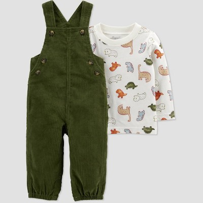 Baby Boys' Dino Top & Bottom Set - Just One You® made by carter's Olive 6M