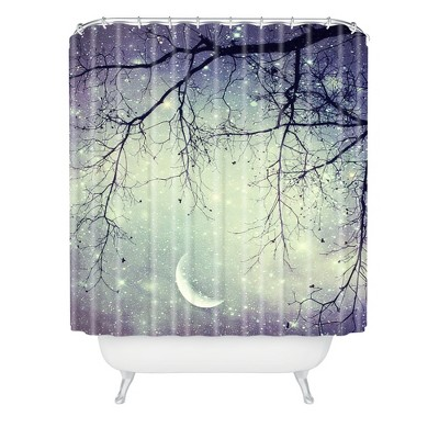Shannon Clark Diamonds In The Sky Shower Curtain Purple/Cream - Deny Designs