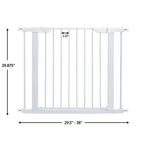 MidWest Homes for Pets 29-Inch Tall Steel Pet Gate w/ Spring-Loaded Latch, White - image 1 of 4