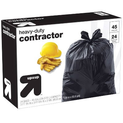 Heavy-Duty Contractor Trash Bags 45 Gallon - 24ct - up & up™
