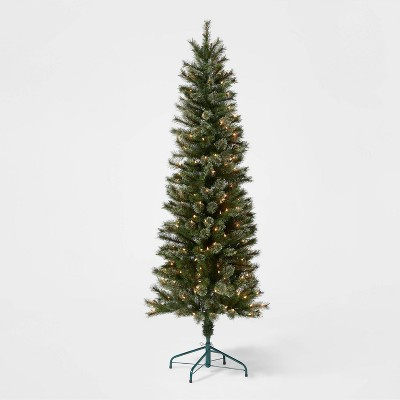 6ft Pre-lit Artificial Christmas Tree Virginia Pine Clear Lights - Wondershop™